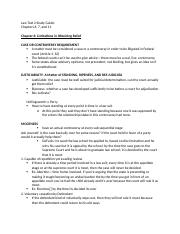 LAW TEST 2 STUDY GUIDE
