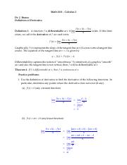 07 Practice Solutions (definition of derviative)