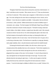 Buy Custom Essay Papers Fast Food Nation Essay  The Evils Of Fast Food Advertising Throughout  United States History There Has Always Been Some Form Of Advertisements In Apa Format Essay Example Paper also Essays About Health Care Fast Food Nation Essay  The Evils Of Fast Food Advertising  Jane Eyre Essay Thesis