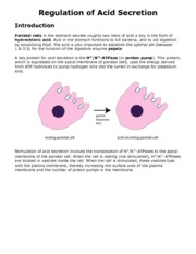 Regulation of Acid Secretion