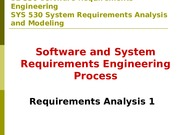 Requirements Analysis 1
