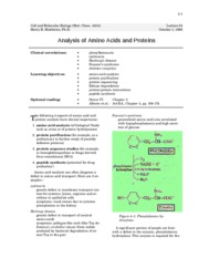 analysis of amino acid and proteins - 4