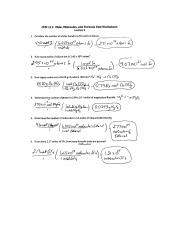 CEM 111 Activity Series Worksheet Answer Key.docx - | Course ...