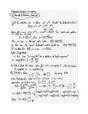 Exam 9 solution on Differential equations