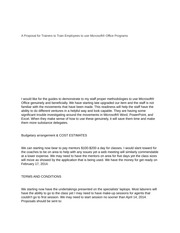 eng 430 (A Proposal for Trainers to Train Employees to use Microsoft® Office Programs)