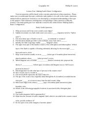 4Lecture Four Making Earth's Basic Configuration Study Guide-2