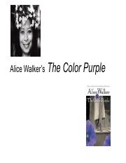 "the colour purple celie s narration Emphasizing on these matters, robyn r warhol, the author of ""narration   1087 words - 4 pages celie's transformation in the color purple celie is not a."