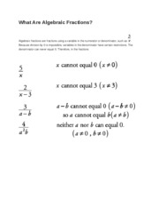 What Are Algebraic Fractions