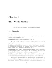 Chapter 1 - Words Matter Part 1