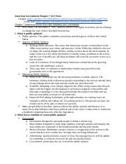 American Government Chapter 7 & 8 Notes.docx
