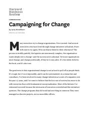 Campaigning for Change_Hirschhorn