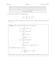 Fall 2013 Midterm 2 Solutions