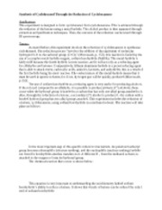 Lab 4 report - reduction of cyclohexanone copy