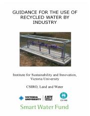 Guidance for the Use of Recycled Water by Industry.pdf