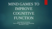MIND GAMES TO IMPROVE COGNITIVE FUNCTION pp