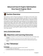 Advanced Search Engine Optimization - Section 2 Study Guide.pdf