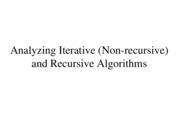 Lecture 3 - Analyzing Algorithms