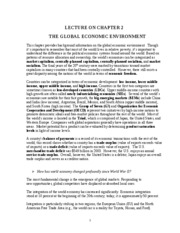 Ch. 2 - The Global Economic Environment