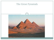 The Great Pyramids sept. 26