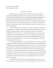 John Locke Reaction Paper