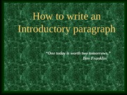 Introductory-paragraphs