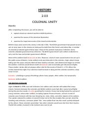 2.03 Colonial Unity.odt
