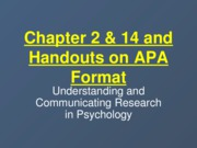 chapters+02%2C14%2C+and+APA+Format