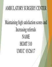AMBULATORY SURGERY CENTER