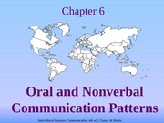 Chapter 06 Oral & Nonverbal Communication