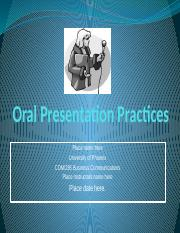 COM 285 Week 5 Team Assignment Oral Powerpoint Presentation