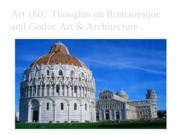 Art 160 Romanesque to Gothic
