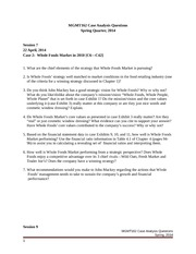 MGMT162 Case Analysis Questions -- Spring 2014