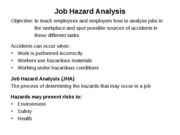 2. Job Hazard Analysis