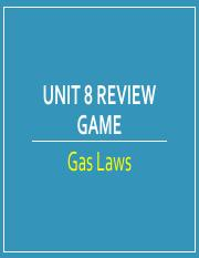 KEY - Review - Ladder Game_Gas Laws