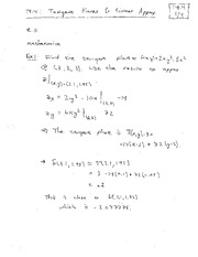 Lecture 3 on Tangent Planes and Differentiability