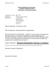 Group 1 – MKT 5070 Marketing Plan Project (Hyundai Equus).docx