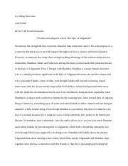 Examples Of Essay Papers  Pages  Level Page Epic Of Gilgamesh Essay Apa Essay Papers also Persuasive Essay Topics High School Students Final Gilgamesh  Misconception On The Role Of Women In Ancient  English Language Essay Topics