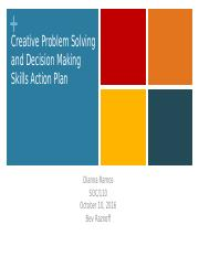 Creative Problem Solving & Decision Making Skills Action Plan.pptx
