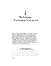 Chapter 7 - The Sociology of Sustainable Development