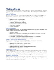 Chapter 2 Writing Steps