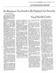 Promoting cybersecurity at a small company (NY Times 1-14-16)