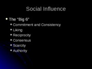 Social Influence(outline)