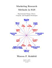 Marketing Research Methods In Sas v9.1