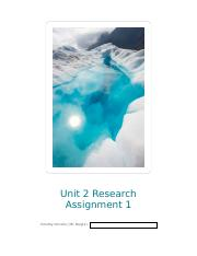 Unit 2 Research Assignment 1