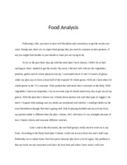 Food Analysis Paper
