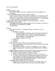 Core 250 Exam 1 Study Questions