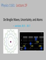 phy1161_29_debroglie_wave_heisenberg_uncertainty