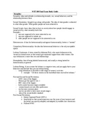 Brees wst Final exam study guide