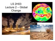 Lecture 2 - Global Change (1)
