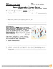 Gizmo Student Disease Spread Packet - Name Date Student ...